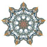 Bunte Mandala Aribic Ethnische Stammes- Verzierungen stock abbildung