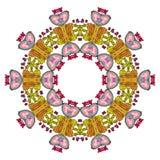 Bunte Mandala auf dem weißen Hintergrund Lizenzfreie Stockfotos