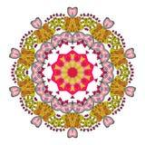 Bunte Mandala auf dem weißen Hintergrund Stockfotos