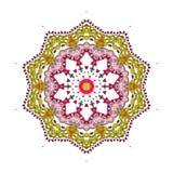 Bunte Mandala auf dem weißen Hintergrund Stockfotografie