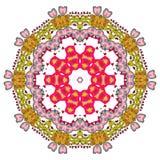 Bunte Mandala auf dem weißen Hintergrund Lizenzfreies Stockfoto