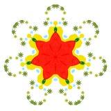 Bunte Mandala auf dem weißen Hintergrund Stockbild
