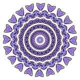 Bunte Mandala auf dem weißen Hintergrund Lizenzfreies Stockbild