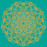 Bunte Mandala Ethnische Stammes- Verzierungen lizenzfreie abbildung