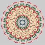 Bunte Mandala Ethnische Stammes- Verzierungen stock abbildung