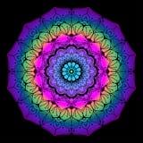 Bunte Mandala für erwachsene Färbungsseite lizenzfreie abbildung