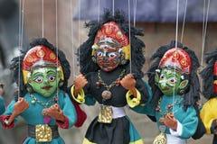 Bunte Marionetten stockbilder