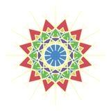 Bunte marokkanische Fliesenverzierungen stockbild
