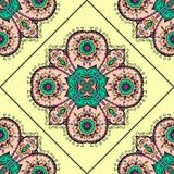 Bunte marokkanische Fliesenverzierungen kann für verwendet werden Lizenzfreie Stockfotografie