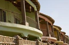 Bunte mexikanische Wohnungen Lizenzfreies Stockbild