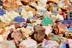 Bunte Mineralien Stockbild
