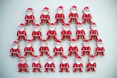Bunte Mischung von Honey Cookies auf einem weißen Hintergrund, Santa Claus formte Lizenzfreie Stockfotografie
