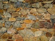 Bunte mittelalterliche Steinwandbeschaffenheit Stockbilder