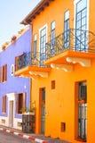 Bunte Mittelmeerhäuser Stockbild