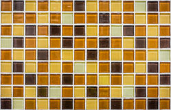 Bunte Mosaikglas-Keramikfliesenwand Lizenzfreies Stockfoto