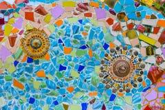 Bunte Mosaikkunst und abstrakter Wandhintergrund. Lizenzfreies Stockbild