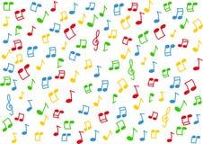 Bunte Musik beachtet Hintergrund stockbild