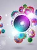 Bunte Musik-flippiger Hintergrund stock abbildung