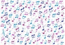 Bunte Musik merkt Hintergrund lizenzfreies stockfoto