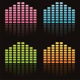 Bunte musikalische Entzerrer lizenzfreie abbildung