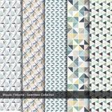 Bunte Muster des Mosaiks - nahtlose Sammlung Stockbild