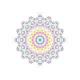 Bunte Musterform der punktierten Linie Vektor Abbildung