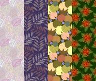Bunte nahtlose Designe des Musters 4 in einem Satz Stockbilder