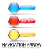 Bunte Navigationspfeile Stockbilder