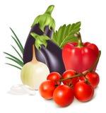 Bunte neue Gruppe Gemüse. Stockbild