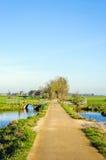 Bunte niederländische Polderlandschaft im Herbst Lizenzfreie Stockfotos