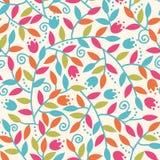 Bunte Niederlassungs-nahtloser Muster-Hintergrund stock abbildung