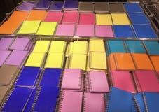 Bunte Notizbücher Lizenzfreies Stockbild