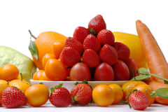bunte Obst und Gemüse Ansammlung Lizenzfreies Stockbild