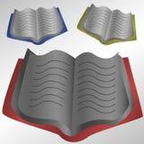 Bunte offene Bücher Stockfotografie