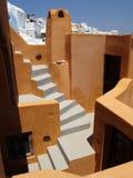 Bunte orange Ansicht über Santorini, Griechenland Lizenzfreie Stockbilder