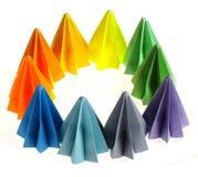 Bunte origami Maßeinheiten Stockfotografie