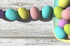 Bunte Eier vektor abbildung