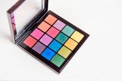 Bunte Palette der Nahaufnahme für Make-up Stockfotografie