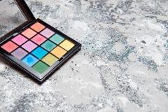 Bunte Palette der Nahaufnahme für Make-up Stockbild