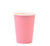 Bunte Papierkaffeetasse. Stockfotografie