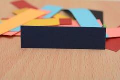 Bunte Papierkarten mit Kopienraum Lizenzfreie Stockfotos