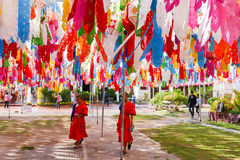 Bunte Papierlaternendekoration für Yeepeng-Festival Lizenzfreie Stockbilder