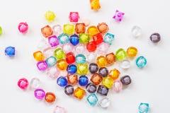 Bunte Perlen für handgemachtes Produkt Stockfotografie