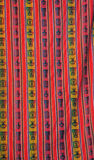 Bunte peruanische Gewebe Stockfotos