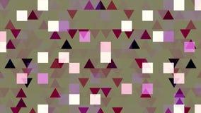 Bunte pixelated Animation mit Blinkendreiecken und Quadraten, nahtlose Schleife animation Schimmern geometrisch stock abbildung