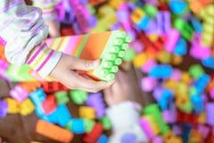 Bunte Plastikblöcke Toy Legos Lizenzfreie Stockfotografie