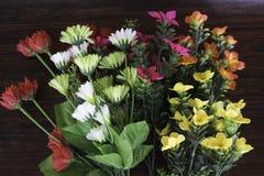 Bunte Plastikblumen Lizenzfreies Stockfoto
