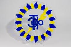 Bunte Platte hergestellt vom Glas Lizenzfreies Stockbild