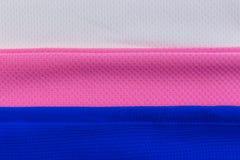 Bunte Polyester-Gewebebeschaffenheit Lizenzfreie Stockbilder