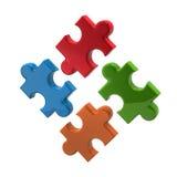 Bunte Puzzlespielikone Stockfotografie